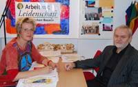 Anna Beatrice Brommund im Gespräch mit dem Vorsitzenden der Kreisseniorenvertretung, Detlef Jeschick