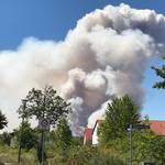Feldbrand bei Holleben am 1. Juli 2018