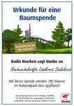 Aktion Baum schenken Urkunde ©Radio Brocken