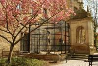Gehört zum Schloss wie zur Stadt: Der Merseburger Rabe in seinem Käfig.